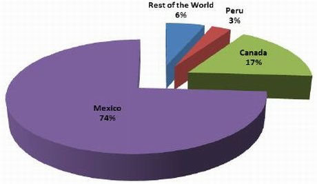 USA: Mexico is leading supplier of fruit and vegetables