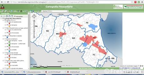 Sharka, ecco la mappa delle zone contaminate
